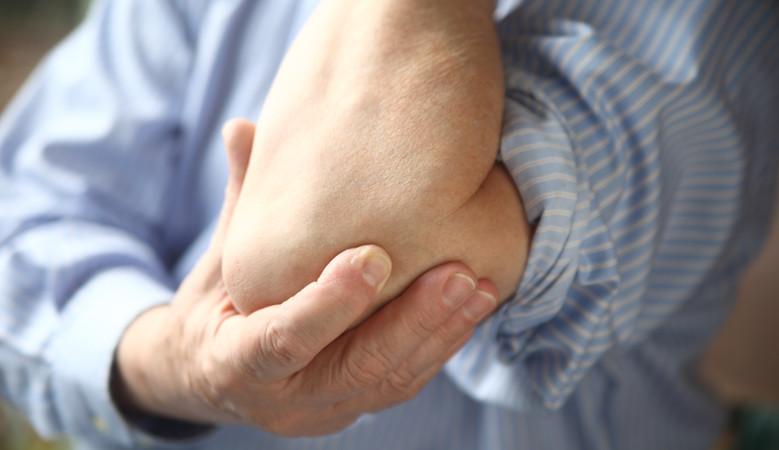 fájdalom az izmokban és a könyök ízületeiben