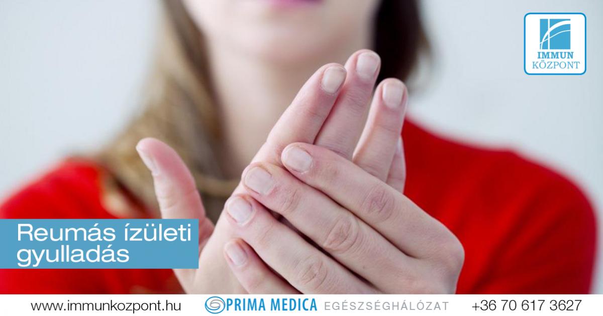 láz izületi fájdalmak az ujjízület duzzanata a karon