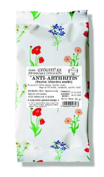 gyógynövények az artritisz kezelésére