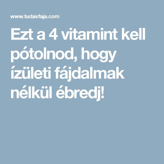 sport vitaminok ízületi fájdalmakhoz